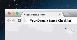 Domain name checklist