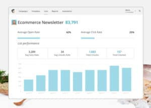 Mail Chimp is a free program your company can use