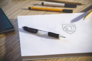 sketch of a logo for rebranding