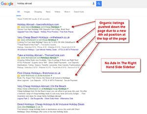 Google AdWords Changes removed the right hand side ads.