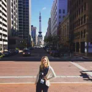 Maddie at the PRSSA National Conference in Indianapolis