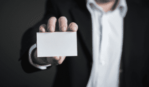 business card represents your company