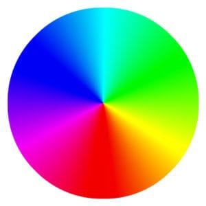 Color wheel for choosing logo colors