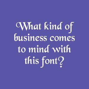 Font style for logo design