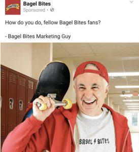 Bagel Bites social media post