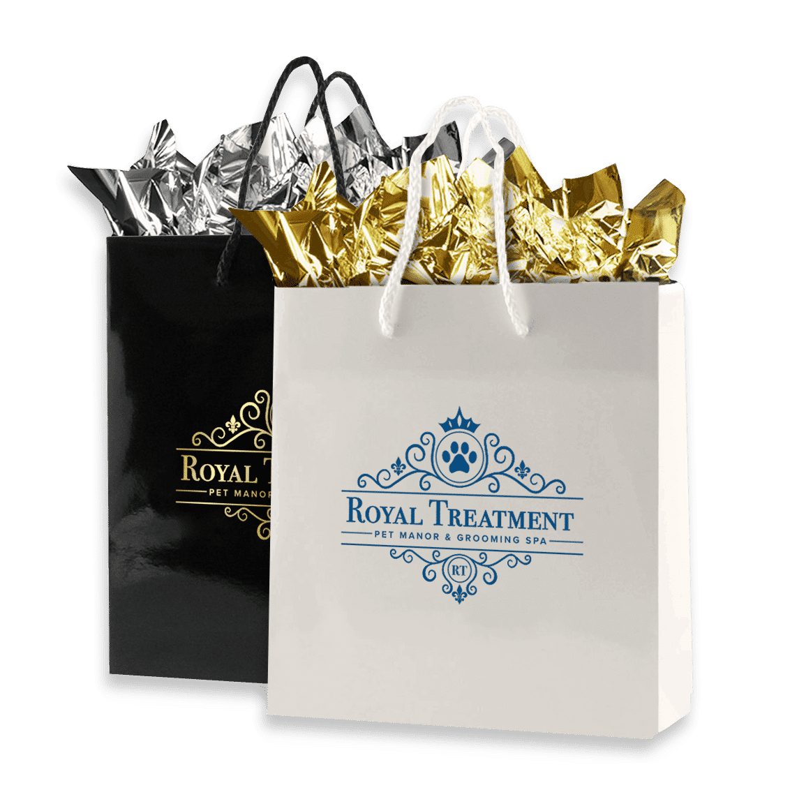 client gift bags with brand name
