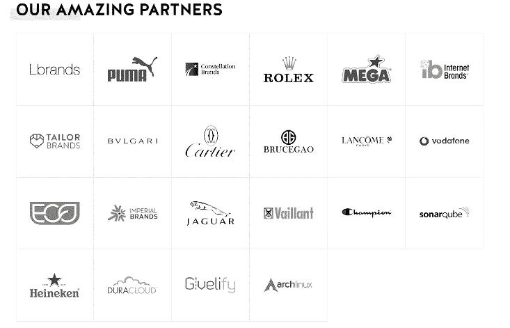 17 squares of brand logos