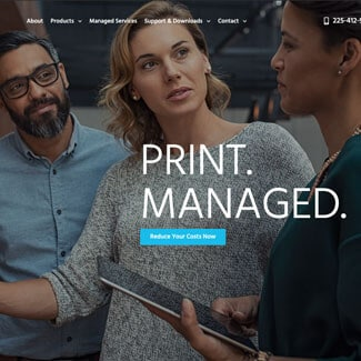 baton rouge website design for office printer companies