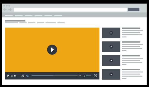 Video on platform